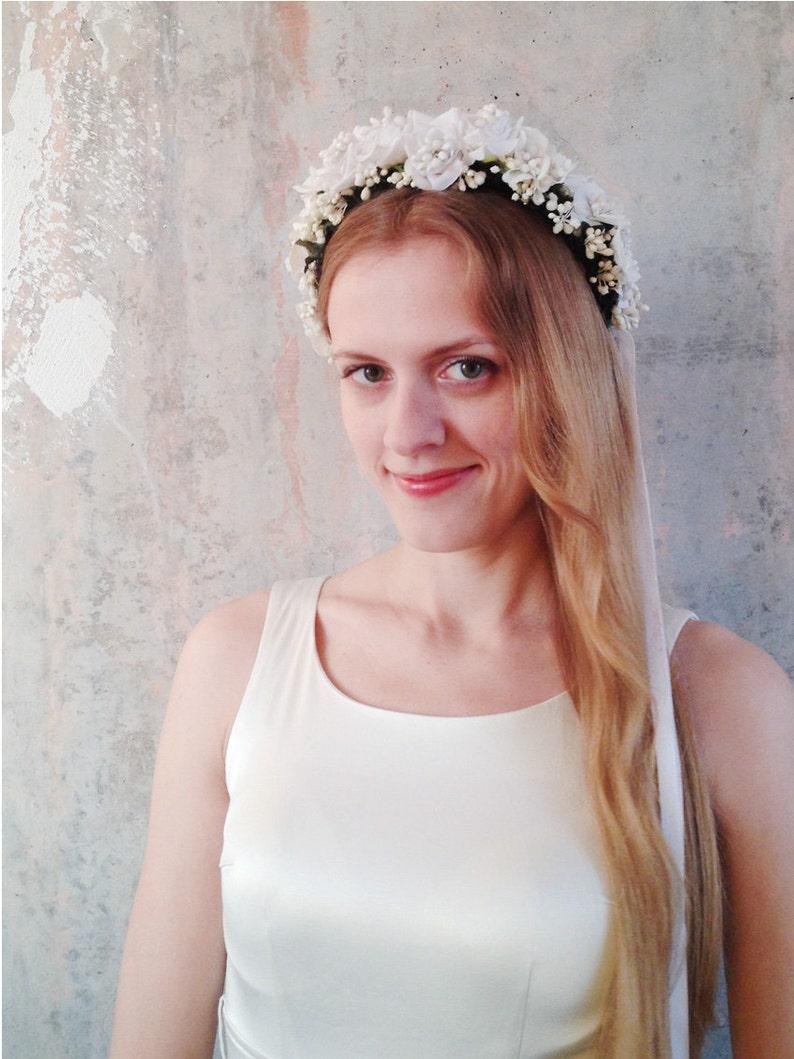 Lower Price with Flower Crown Wedding Bride Wreath Of Flowers On The Head Bohemia Women Hair Accessories Christmas Flower Headband Headpiece Women's Hair Accessories
