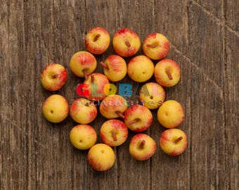 Dollhouse Miniatures Handcrafted Clay Gala Apple Fruit Food Cooking Decoration and Accessory Supply - 1:12 Scale