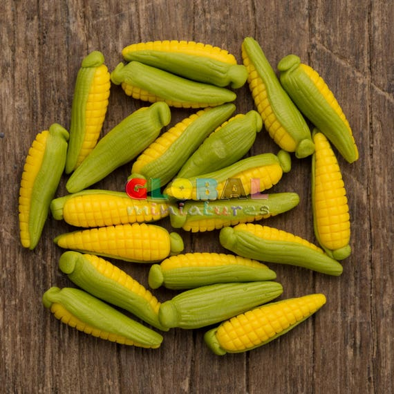 Only one 1:12 Scale One Corn On The Cob Dolls House Miniature Vegetable
