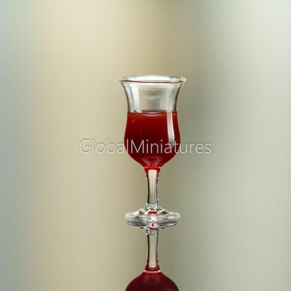 Dollhouse Miniatures Crystal Clear Glassware Martini Glass