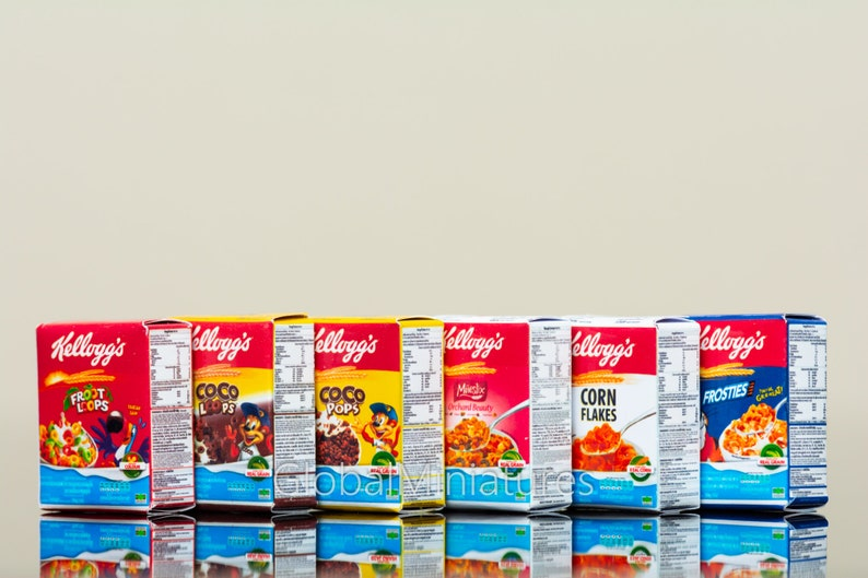 Dollhouse Miniatures Collection Of Kellogg S Cereal Box Etsy