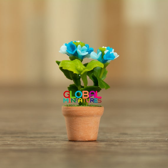 1//12 Scale Dolls house decorate Handmade clay flower Pot model