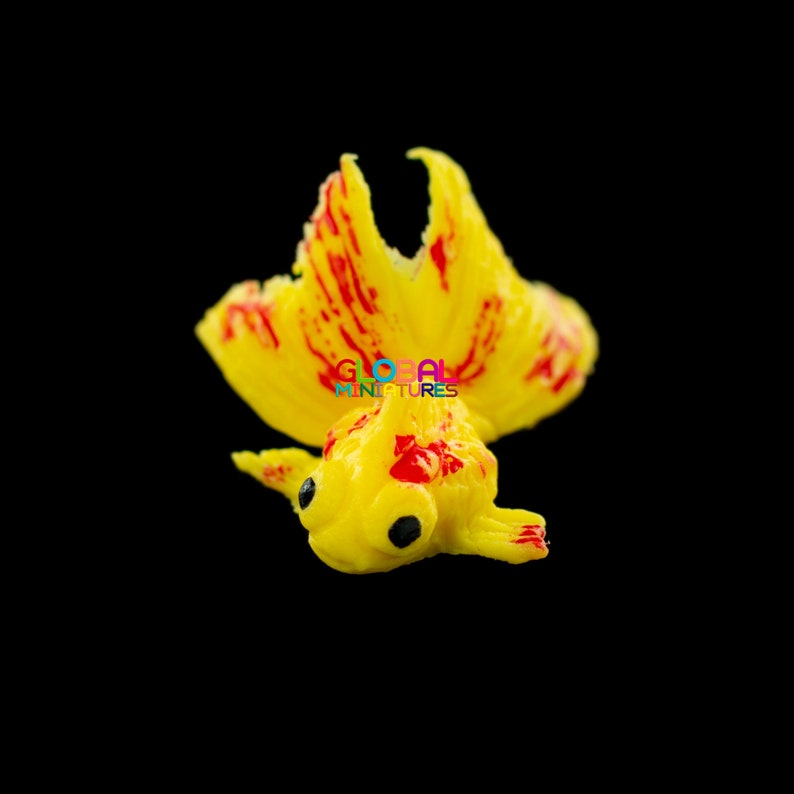 1:12 Dollhouse Miniature Transparent Bag Goldfish Doll Pet Toy Decor TO