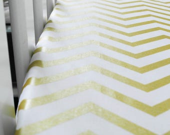 White/ gold fitted sheet - Metallic Nursery - Cot fitted sheets - Cot bed fitted sheets - gender neutral cot bedding