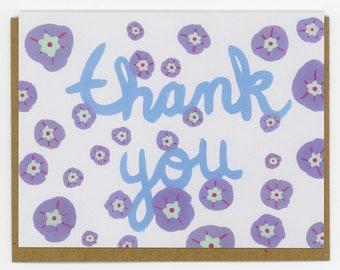 Purple Flower Thank You