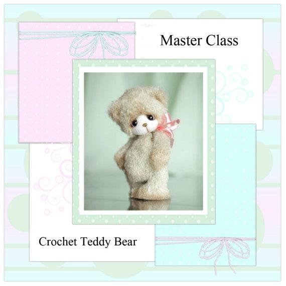 PDF Pattern knitted  bear, master class crochet toy