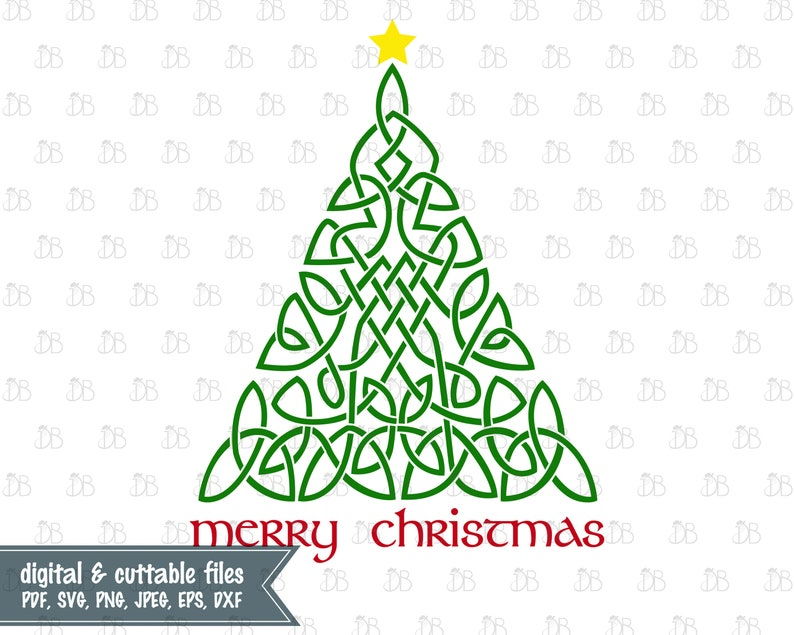Celtic Christmas.Celtic Christmas Tree Svg Cut File Instant Digital Download Irish Christmas Graphic Sublimation Celtic Knot Silhouette File