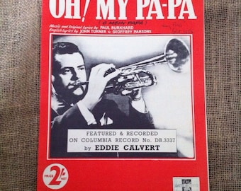 OH! My Pa-Pa (o mein papa) 1953 Vintage Sheet Music for Voice and Piano.