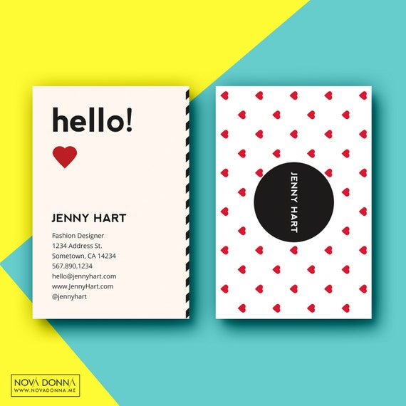 Business card template designs customizable adobe photoshop format business card template designs customizable adobe photoshop format modern chic playful hearts fbccfo Gallery