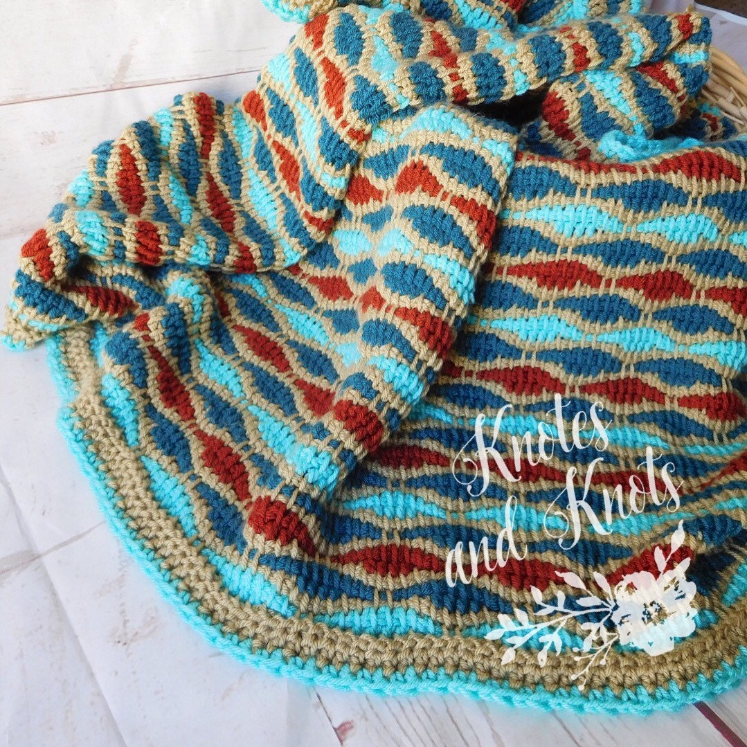 Crochet Blanket Crochet Throw Tunisian Crochet Afghan Etsy