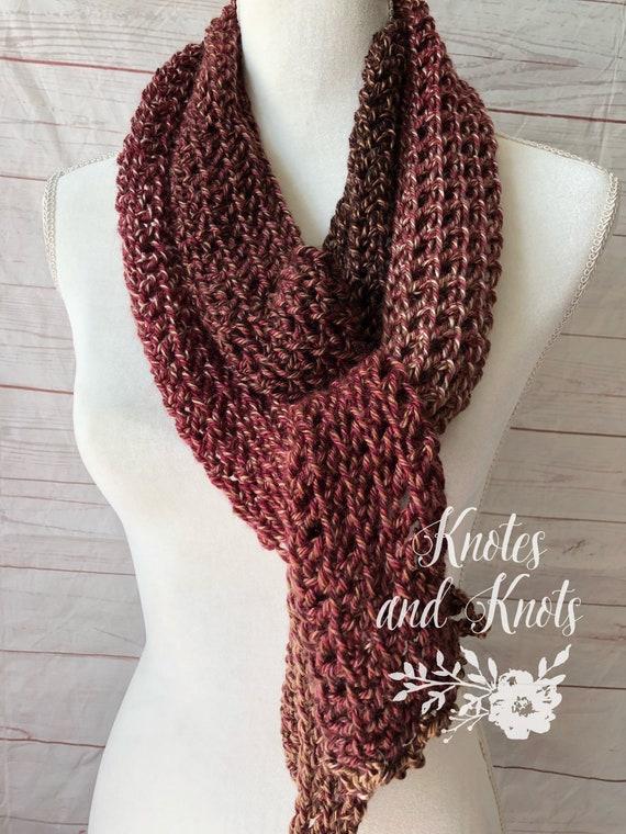 Crochet Scarf Lace Scarf Fall Fashion Crocheted Fashion Etsy