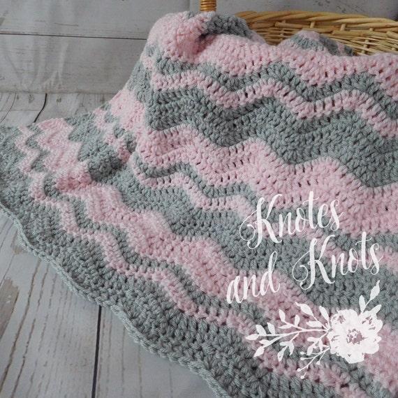 Häkeln Baby Decke Rosa und grau häkeln Babydecke | Etsy