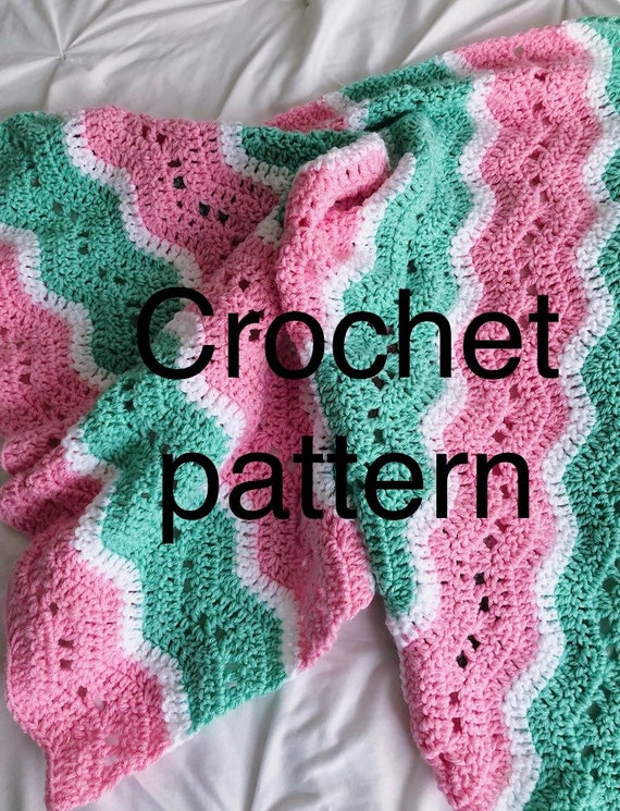 The Candace crochet baby blanket PATTERN lacy ripple crochet pattern blanket baby crochet blanket baby blanket crochet