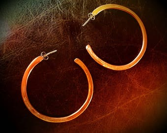 "Inspirals 100% Handmade Copper Hoop Earrings-2"" dia. Lightweight! FREE SHIPPING for all U.S. orders!"