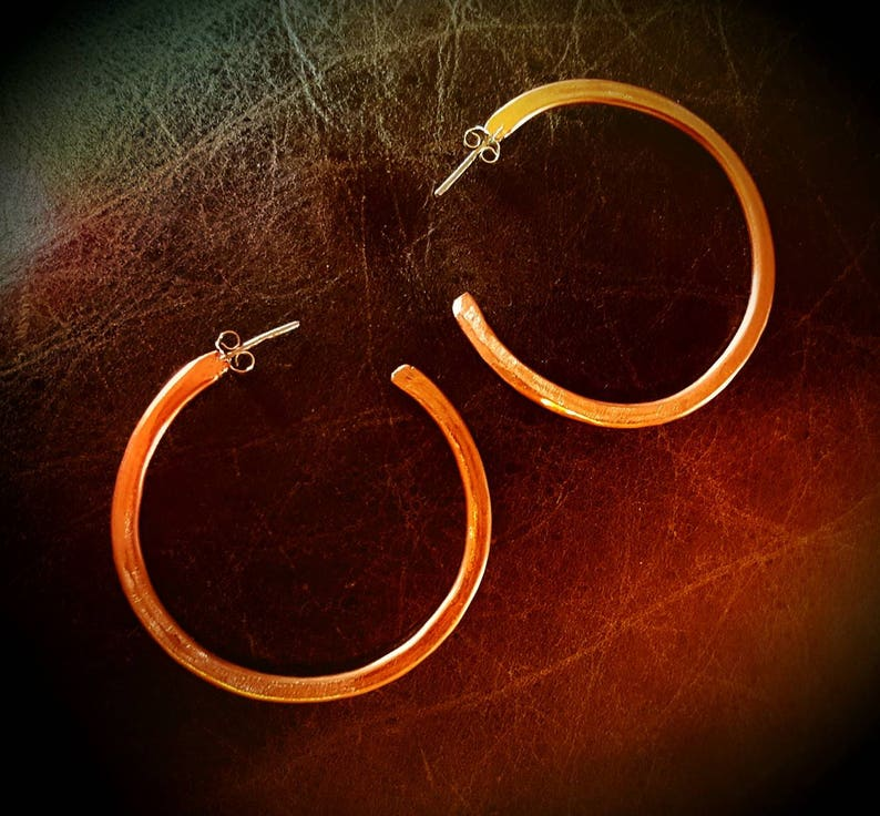 Lightweight orders! Inspirals 100/% Handmade Copper Hoop Earrings-2 dia FREE SHIPPING for all U.S