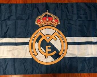 16a8919a0af REAL MADRID C.F. La Liga Soccer 3 x5  Feet Soccer Team FLAG Banner Futbol  Blue