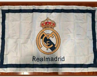 e772ff0f539 REAL MADRID C.F. La Liga Soccer 3 x5  Feet Soccer Team FLAG Banner Futbol  White