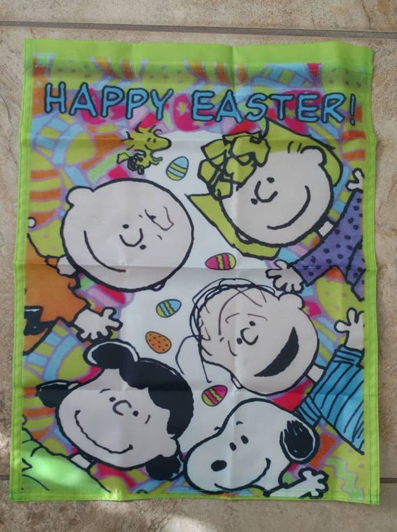 Peanuts Snoopy /& Woodstock Holiday Happy Easter 14x18 inches Garden Flag