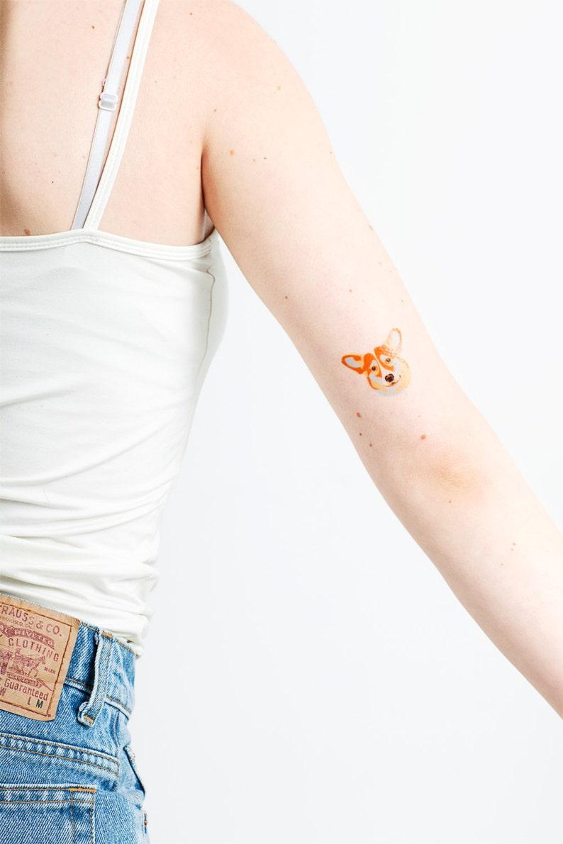 10 packs of 2 small CORGI temporary tattoo pack Dog | Etsy