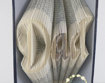 Dad Book Folding Pattern For Fathers Day Book Art (187 Folds) With Free Tutorial