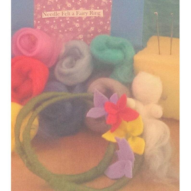 craft kit Needle felt a Fairy Ring Wreath Kit,Waldorf art,steiner chidlrens craft kit