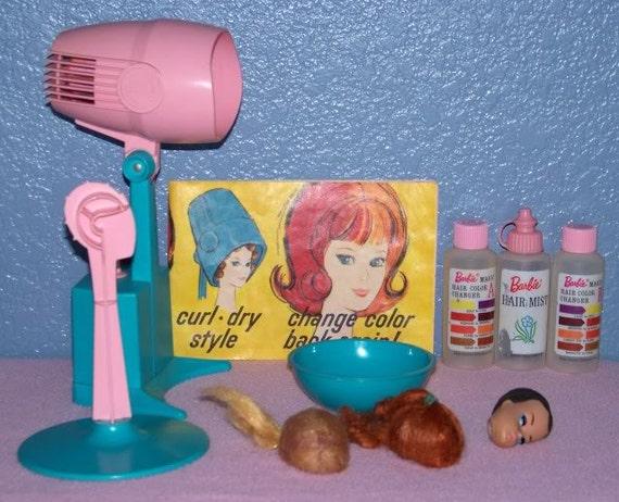 Rare 1964 Vintage Barbie Doll Color N Curl Set In Etsy