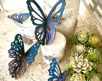 """3D Butterflies - Set of 5 - SVG Digital Download for Glowforge or Laser -Not a Physical Item -FOR 1/8"""" MATERIAL only"""