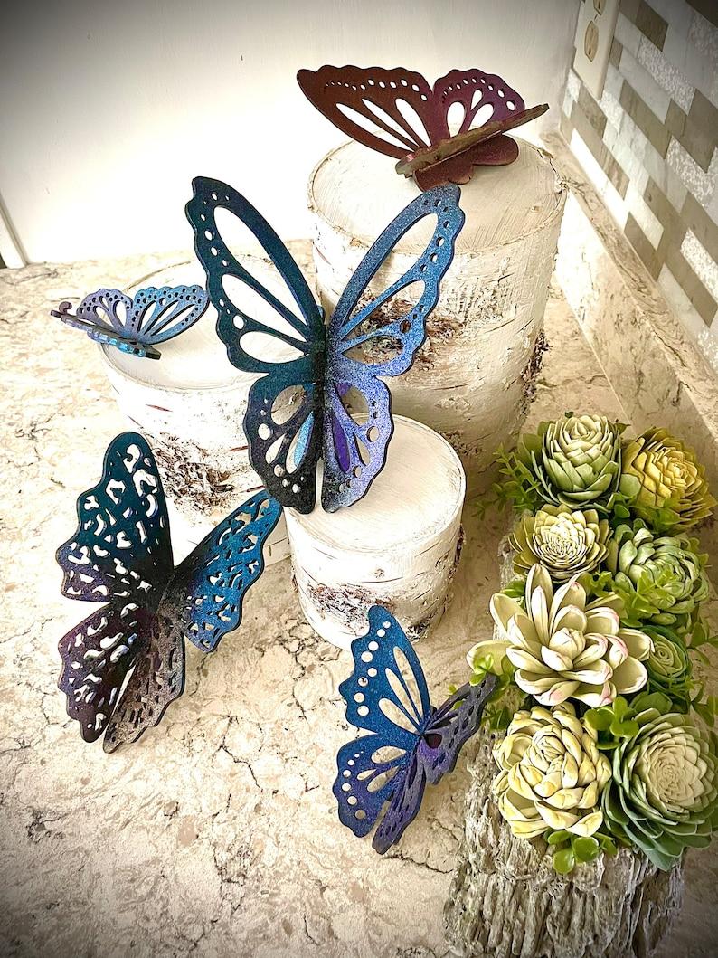 3D Butterflies  Set of 5  SVG Digital Download for Glowforge image 0