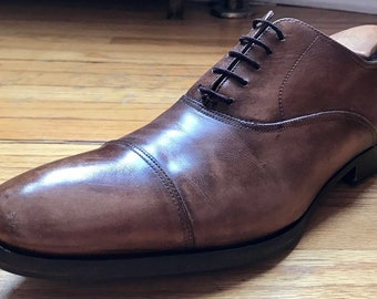 ff19d30b180 To Boot New York Adam Derrick Brown Calf Leather Oxford Shoes 8.5D EUC Made  in Italy