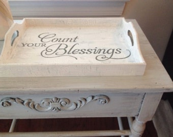 Count your Blessings Decorative Tray
