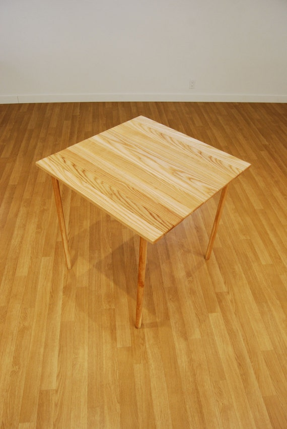 The Maki Table Roll Up Wooden Table In Ash Handmade Table Etsy