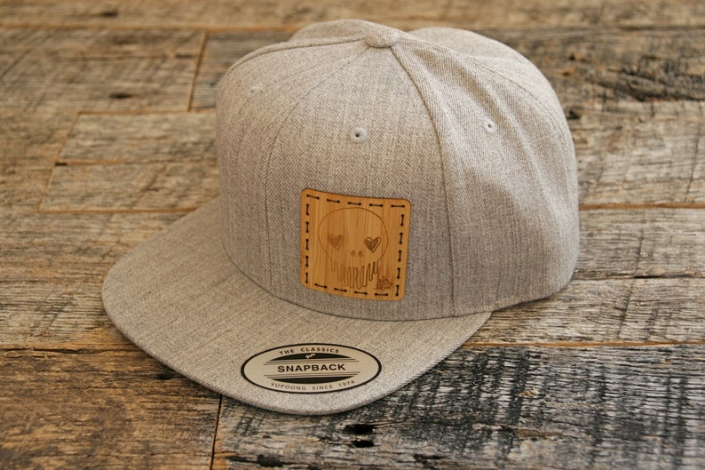8cee60e6b Artist Series 001-Limited Edition Collaboration With Ten Hundred: Original  Art Laser Engraved Onto Bamboo +Stitched On Heather Grey Snapback