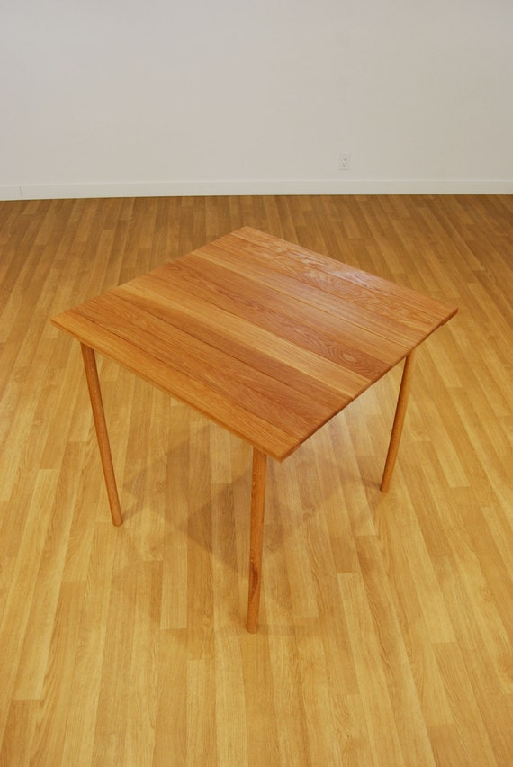 The Maki Table Roll Up Wooden Table In Oak Handmade Table Etsy