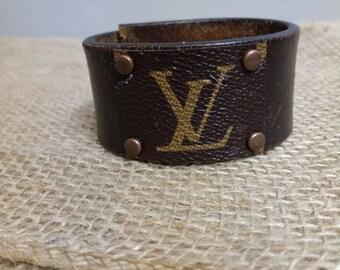 Repurposed Louis Vuitton Denim Wrap Bracelet Lv Bracelet Etsy