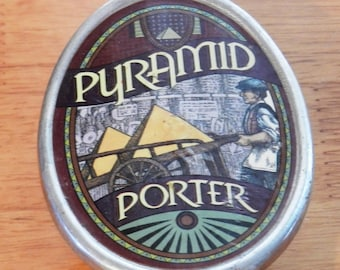 Pyramid Porter Beer Wood and Metal Tap Handle 10 1/4 Inches Tall     01029