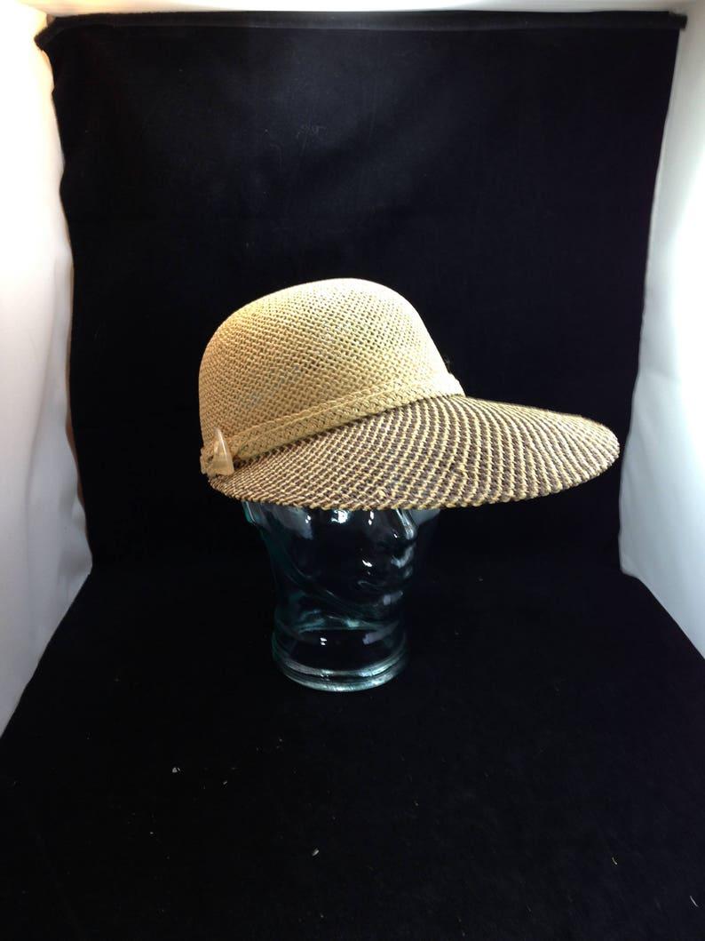 8580b357c498b Liz Claiborne Wide Brim Straw Sun Hat 5 Inch Front Brim with