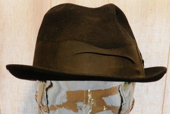 Vintage Knox Premier fur Felt Fedora Black with Black Hatband  738b2fb678b0