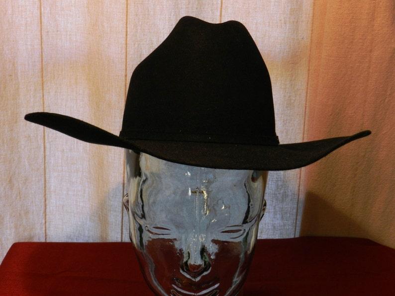 02bf2dd6c1bb1 Vintage Bailey Pro 5 X Beaver Black Cowboy Hat with Silver