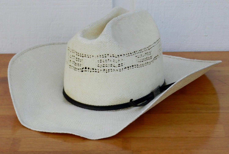 b42a56f13d1fa Vintage Eddy Bros Bangora XXXXX Creme Colored Straw Cowboy Hat
