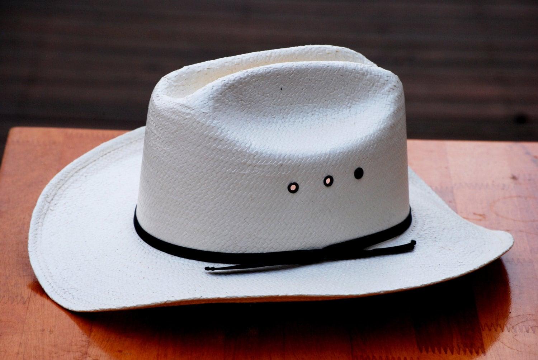 Formosan XXXXX Brand Cream Colored Straw Cowboy Hat Size 6 3 4  5f68b1ce524