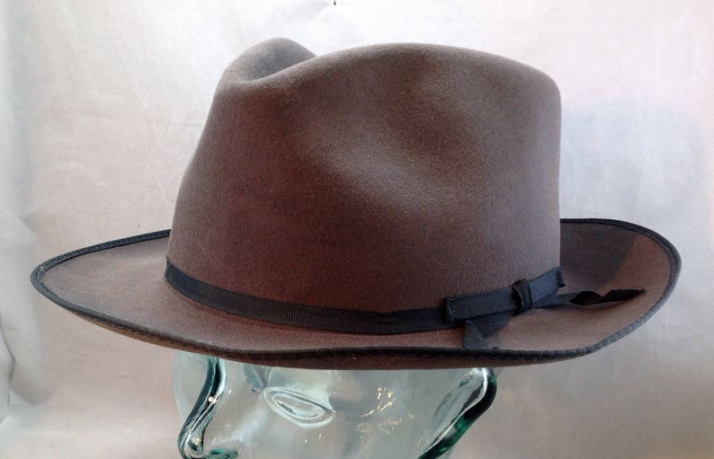 Vintage Stetson Stratoliner Fedora Style Hat in Caribou with  2620fbbdc9e