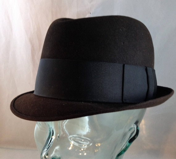 Vintage Woodmere Supreme Trilby Style Fedora Black with Black  d52a52194fe