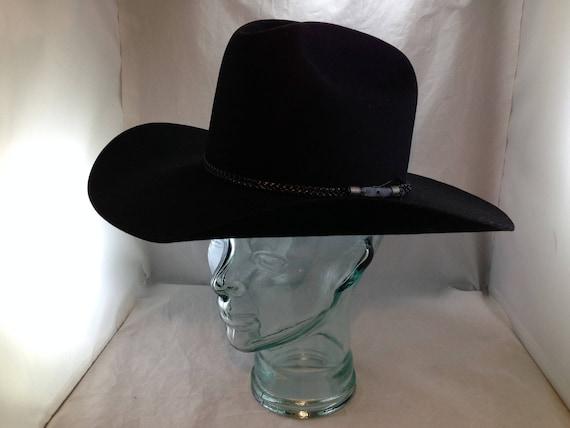 Vintage Black Bailey 4X Beaver Cowboy Hat Clint Black Model  c6314a7ddb7