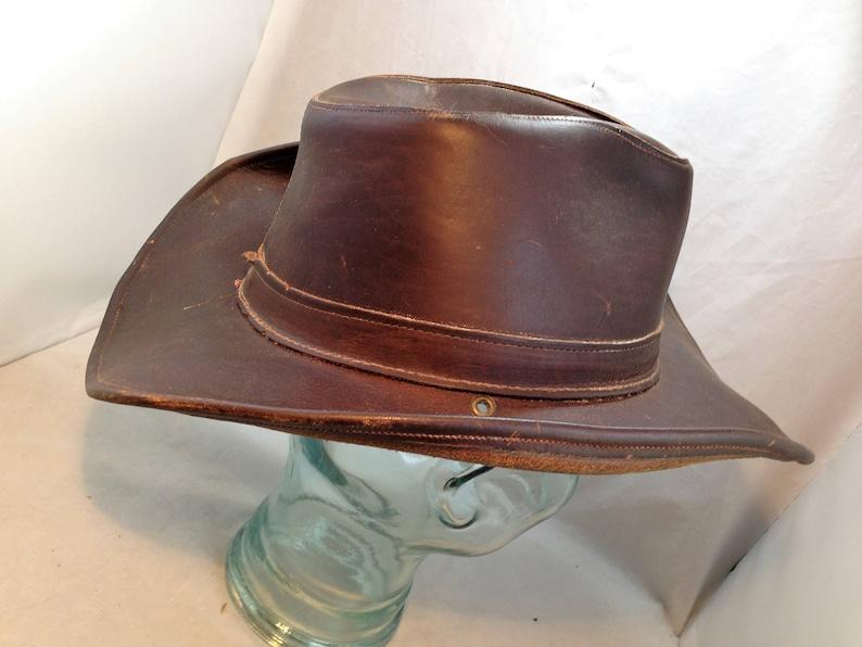 Henschel Hat Aussie Leather Safari Hat Size Large 01777  458d41693a69