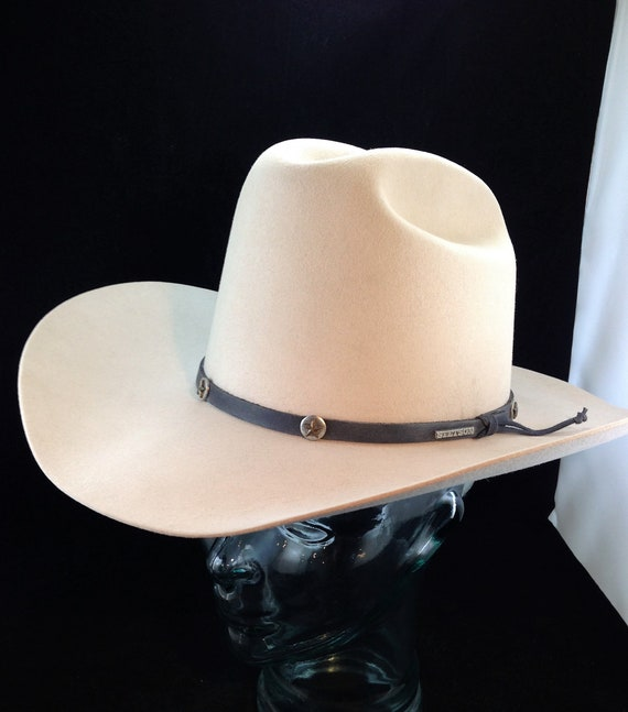 2326b3284b778 Vintage Stetson 4X Beaver Cattleman s Style Cowboy Hat