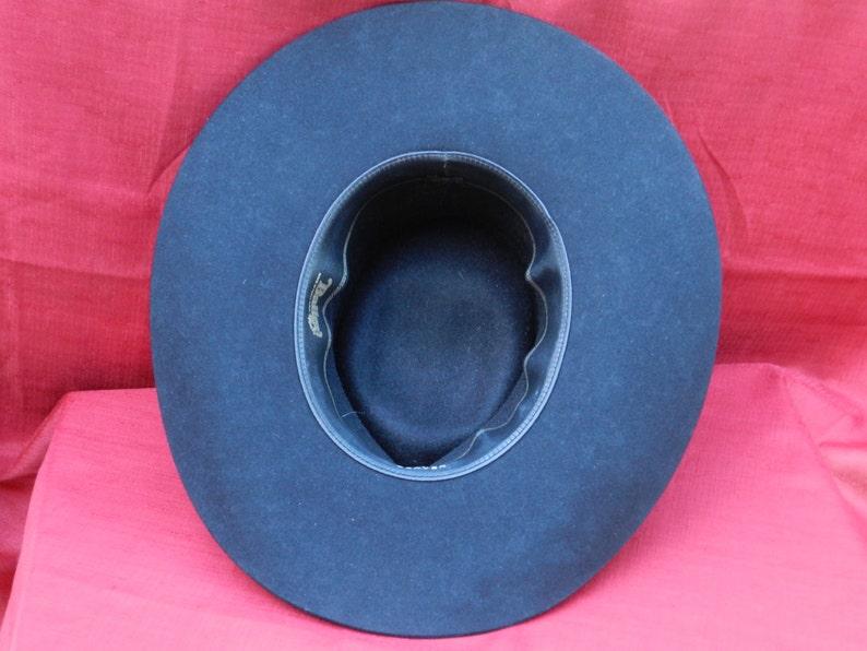 88e779df8e043 Vintage Bailey Cowboy Hat Mesquite 4X Black in Box