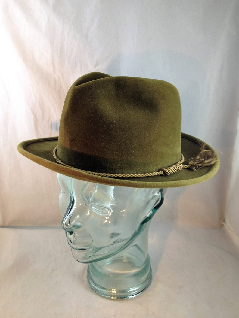 daec6e707462d Vintage Olive Green Fedora by Christy s of London Diplomat