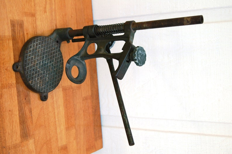 Antique Drill Press For Hand Drill Sw1401 Cast Iron And Etsy