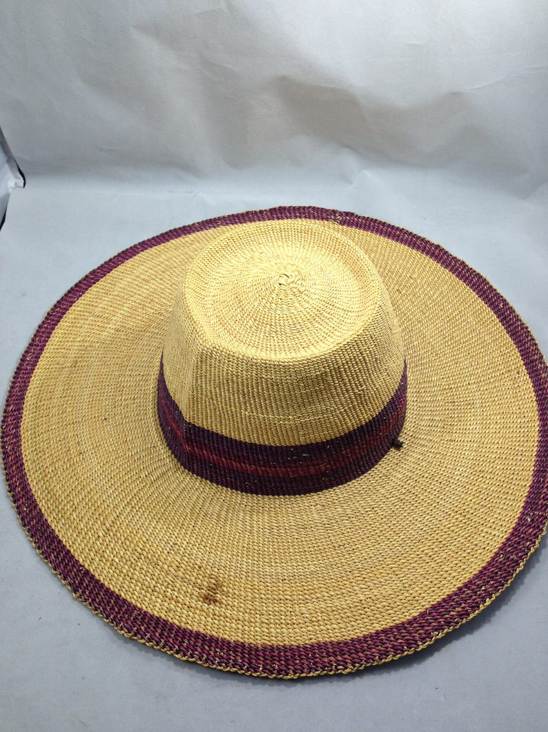 1473e26b397dd Woven Straw Hat Native Made Finely Crafted Size Medium with