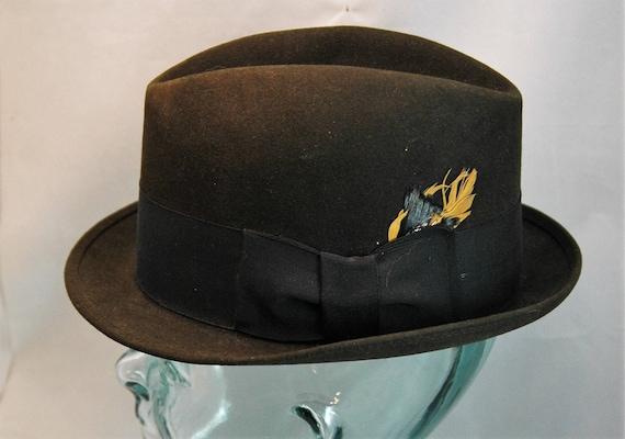 bc21ffb4f0e Vintage Royal Stetson Fedora Black with Black Hatband